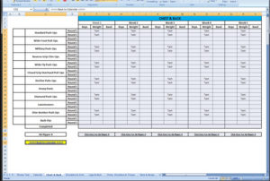 Learn These P90x Workout Schedule Excel Log Sheet Download