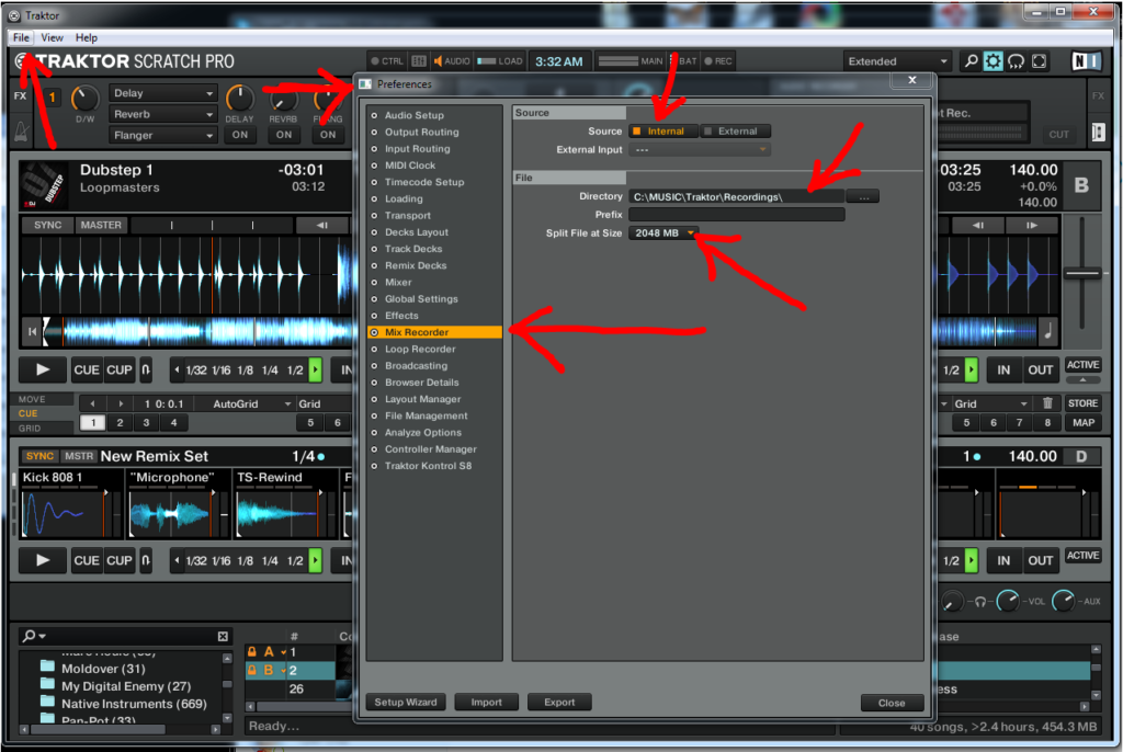 How to Record in Traktor Scratch Pro 2